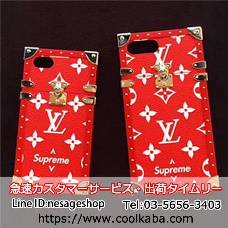 lv supreme iphone8ケース コラボ