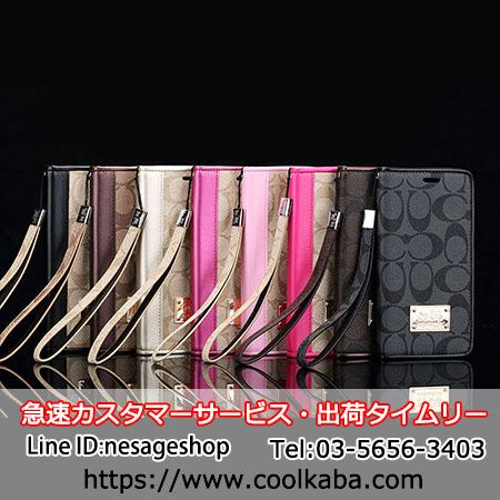 coach iphone8 plus 手帳ケース