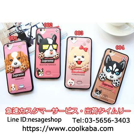 シュプリーム いぬ柄 iphone8/8plusソフトケース
