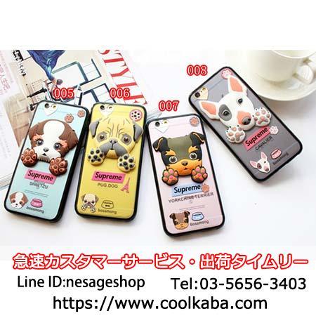 iphone8シリコンケース 可愛い ペット シュプリームブランド