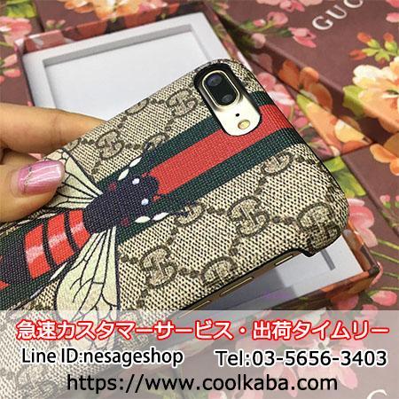 iphoneX/8携帯ケース グッチ風 エレガント