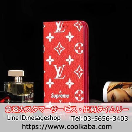 シュプリームLV iphone8plusカバー