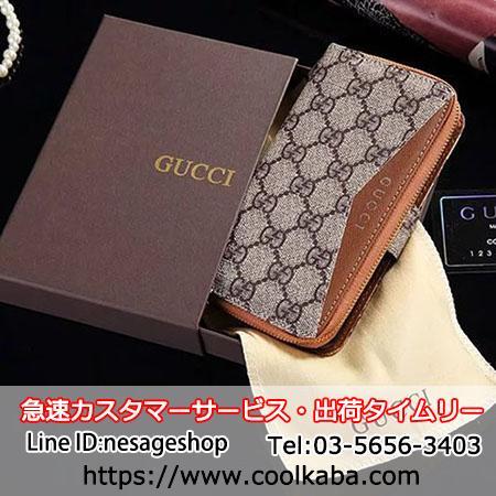 GUCCI iphoneXケース ファスナーポケット付き