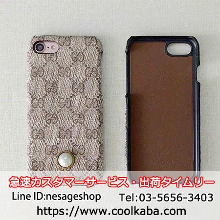 iphoneケース 真珠付き GGスプリーム