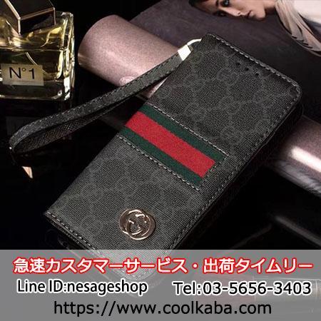グッチ iphonex ギャラクシーs9手帳ケース