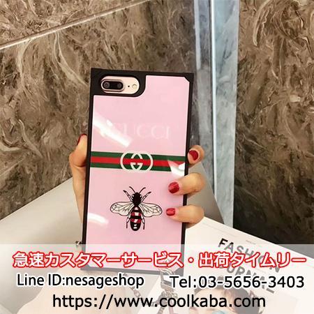 iphoneX/8 保護ケース グッチ ピンク