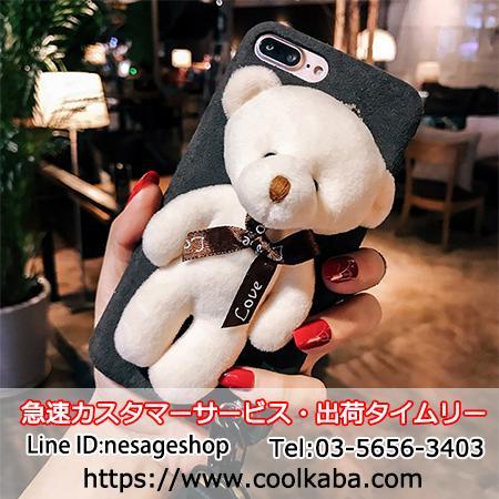熊ケース iphoneX/8カバー 可愛い