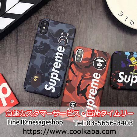 iphonex ケース SUPREME AAPE BY A BATHING APE コラボ