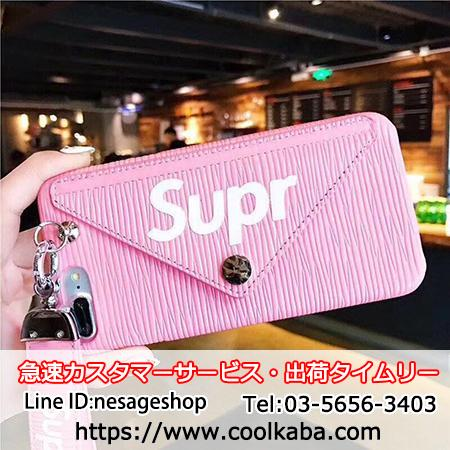Supreme iPhone8plusケース 財布付き