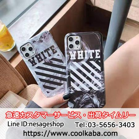 Off-White iPhone11pro max ケース 斜め縞