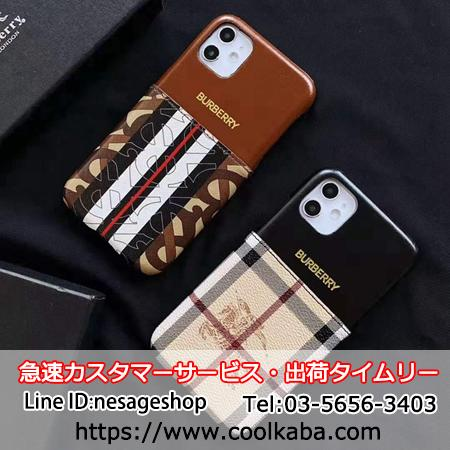 Burberry iphone11 pro maxケース カードいれ