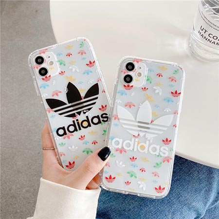 ADIDAS iPhone12 ケース 三つ葉ロゴ 付き