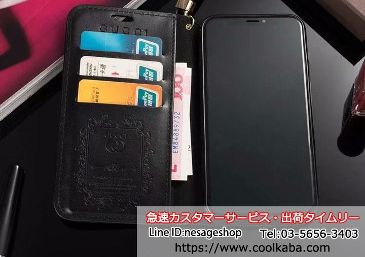 iphoneX gucciケース手帳型