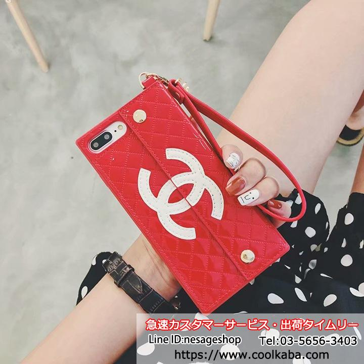 iphoneX シャネルケース 財布付き