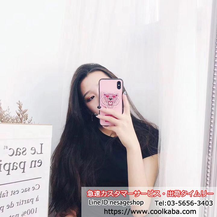 ケンゾー iPhonexr 虎ケース ピンク