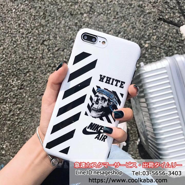 iPhonexr ケース オフホワイトxナイキ