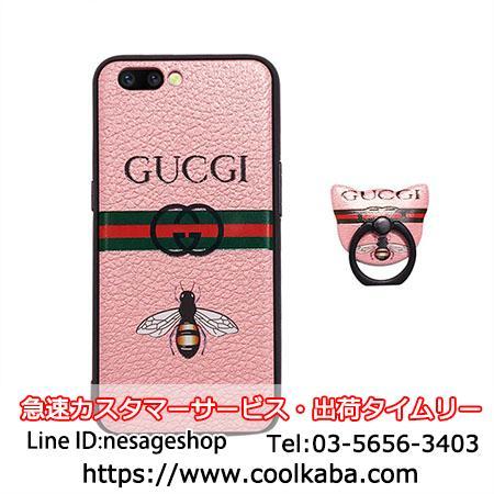 グッチリング付き iphoneX/8plusスマホケース