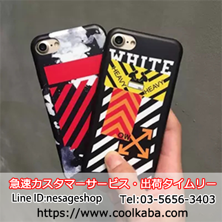 off-white iphone8/7plusケース パロディー風
